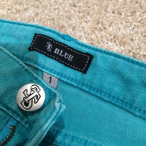 Nordstrom high waisted teal blue shorts